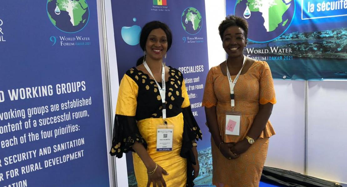 Stand of the 9th World Water Forum at the Congress of the African Water Association (AfWA)